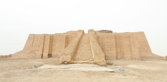 Ziggurat van Ur stock afbeelding