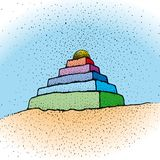 Ziggurat (vector) Royalty Free Stock Images