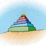 Ziggurat (vector) Royalty Free Stock Images
