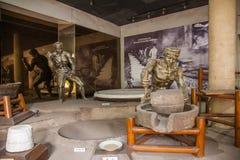 Zigong Salt Museum shows the process model of ancient salt technology field Stock Photos