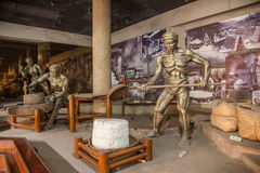 Zigong Salt Museum shows the process model of ancient salt technology field Royalty Free Stock Photo