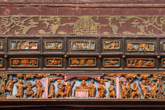 Zigong Salt Museum XiQin Hall stage skirts carved wood art historical stories and legends Stock Photography