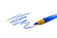 Ziguezague azul desenhado Imagem de Stock Royalty Free