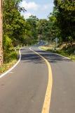 Ziguezague do asfalto. Fotos de Stock Royalty Free