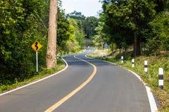 Ziguezague do asfalto. Imagem de Stock Royalty Free