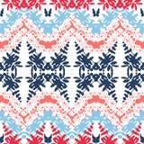 Ziguezague - teste padrão geométrico sem emenda Cor azul, cor-de-rosa e vermelha Fotos de Stock