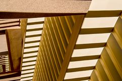 ZigZag In Beige. Abstract light and shadow on desert walls create zigzag patterns stock image