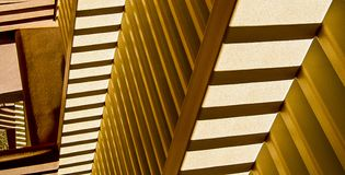 ZigZag Above. Abstract light and shadow on desert walls create zigzag patterns stock image