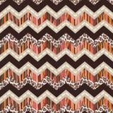 Zigzag abstracto y animal de Brown Foto de archivo libre de regalías