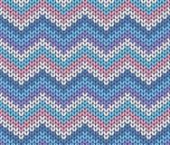 Zigzag abstrait tricoté par hiver ethnique frais Images libres de droits