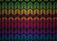 Zigzag al neon Fotografia Stock Libera da Diritti