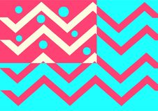 Zigzag background and dot. You can use it for your wallpaper or background or any function that need fun and simply illustration. just download it now! or you Royalty Free Stock Photos