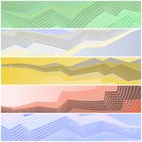 Zigzag banners Stock Image