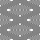Zigzag in bianco e nero del reticolo Immagine Stock