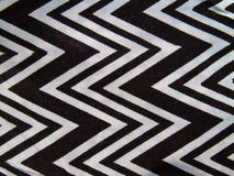 Zigzag black and white. Closeup texture of zigzag black and white shirt Stock Image