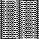 Zigzag black and white vector seamless pattern. Ornamental triba vector illustration