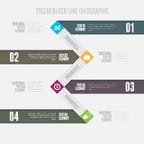 Zigzag Block Line Infographic Stock Photos