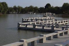 Zigzag bridge Stock Photo