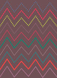 Zigzag bright colorful lines pattern, vector background. Zigzag bright colorful dotted lines pattern vector texture Royalty Free Stock Photography