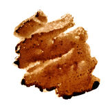 Zigzag coffee stain. Isolated over the background - space for your own text Royalty Free Stock Photography