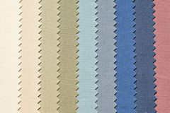 Zigzag cold. Zigzag material in cold color palette samples royalty free stock photography