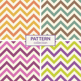 Zigzag color lines seamless patterns Royalty Free Stock Photography