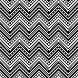 Zigzag Contrast Seamless Pattern Royalty Free Stock Images