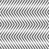 Zigzag, corrugated, serrated lines. Dynamic, irregular stripes. Geometric repeatable abstract monochrome pattern - Royalty free vector illustration Royalty Free Stock Photos