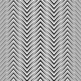 Zigzag, corrugated, serrated lines. Dynamic, irregular stripes. Geometric repeatable abstract monochrome pattern - Royalty free vector illustration Royalty Free Stock Image