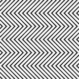 Zigzag, corrugated, serrated lines. Dynamic, irregular stripes. Geometric repeatable abstract monochrome pattern - Royalty free vector illustration Royalty Free Stock Photography