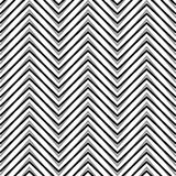 Zigzag, corrugated, serrated lines. Dynamic, irregular stripes. Geometric repeatable abstract monochrome pattern - Royalty free vector illustration Stock Photo
