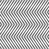 Zigzag, corrugated, serrated lines. Dynamic, irregular stripes. Geometric repeatable abstract monochrome pattern - Royalty free vector illustration Stock Image