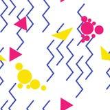 Zigzag del arte pop inconsútil Imagen de archivo libre de regalías