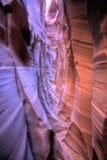 Zigzag del canyon della scanalatura della zebra Fotografia Stock Libera da Diritti