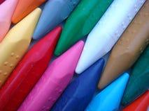 Zigzag del cierre del color del creyón para arriba Fotos de archivo libres de regalías