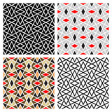 Zigzag Diamond Patterns. Abstract zigzag/diamond repeat patterns in different colors, can be tiled seamlessly vector illustration