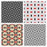 Zigzag Diamond Patterns vector illustration