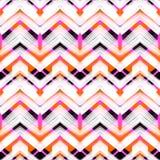 Zigzag dibujado mano multicolora del modelo libre illustration