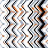 Zigzag dibujado mano multicolora del modelo ilustración del vector
