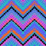 Zigzag dibujado mano multicolora del modelo stock de ilustración