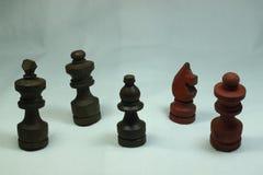 Zigzag en bois d'échecs Photographie stock