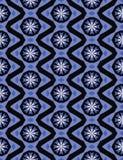 Zigzag en sneeuwvlokken Stock Foto's