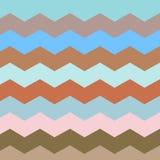 Zigzag en streeplijn Retro pastelkleuren stock illustratie