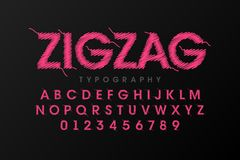 Free Zigzag Font Stitched With Thread Stock Photography - 121839542