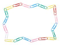 Zigzag frame made of paper clips Stock Image