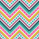 Zigzag Geometric Seamless Pattern Stock Image