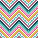 Zigzag Geometrisch Naadloos Patroon Stock Afbeelding