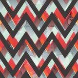 Zigzag grunge seamless pattern vector illustration