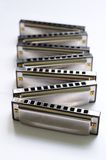 Zigzag Harmonica set Stock Photo