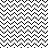 Zigzag inconsútil blanco y negro Imagen de archivo libre de regalías